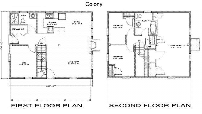 Colony timber frame post beam home kits plans Post frame homes plans